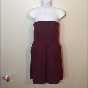 COS Strapless Blue and Red Dress Size 4